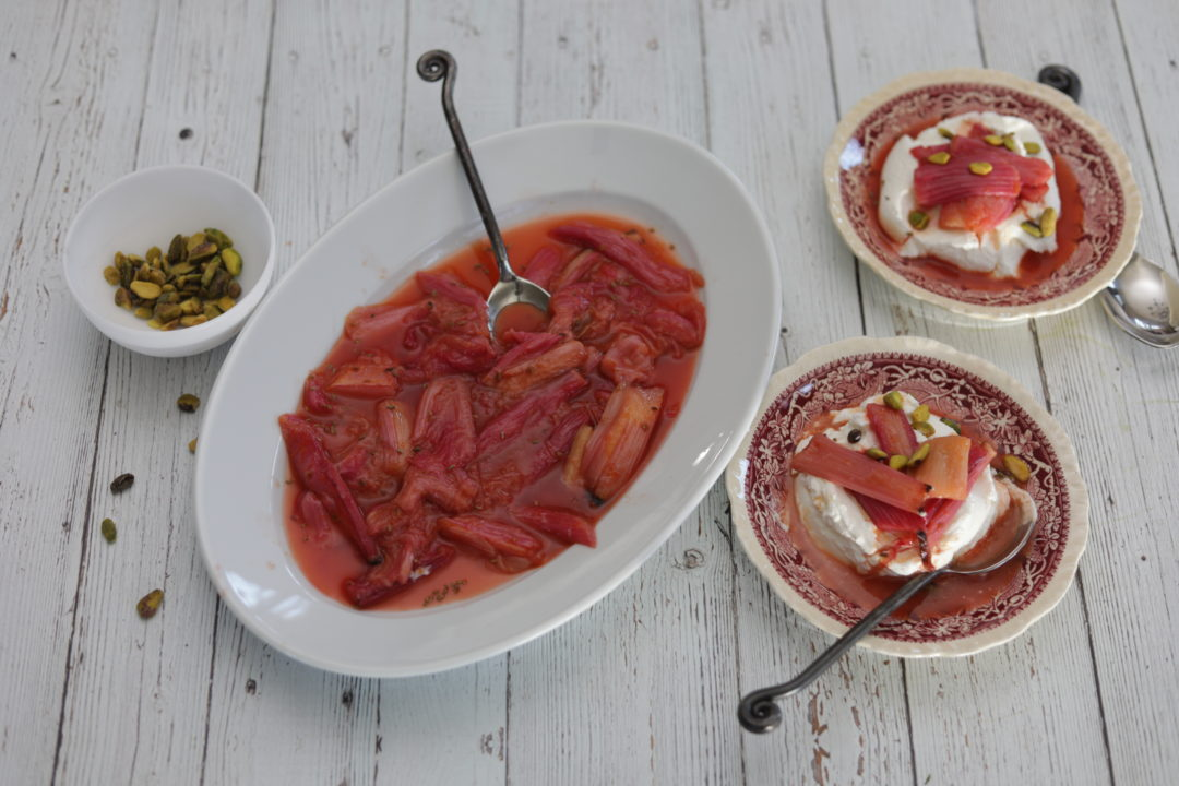 Braised Michigan Rhubarb by Nostimo Kitchen