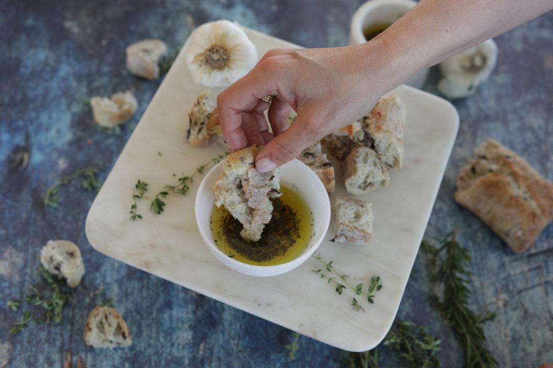 Olive Oil Herb Dip by Nostimo Kitchen