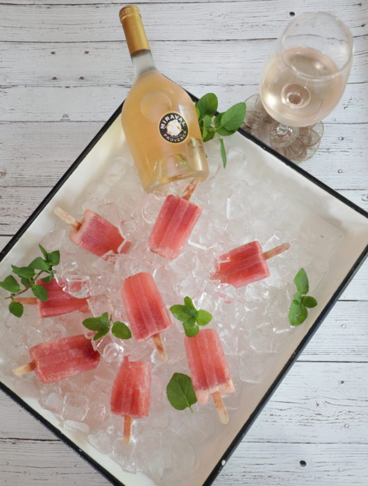 Frozen Rosé Popsicles - Nostimo Kitchen